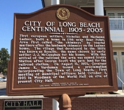 City of Long Beach Centennial 1905-2005 Marker image. Click for full size.