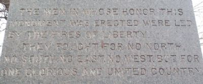 Civil War Memorial Epitaph image. Click for full size.