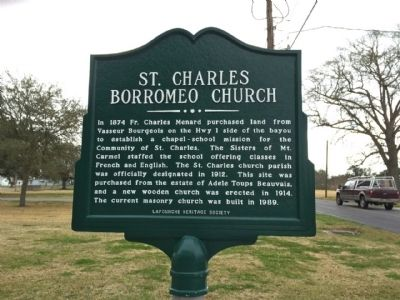 St. Charles Borromeo Church Marker image. Click for full size.