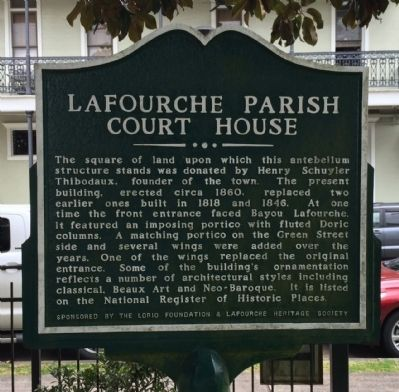 Lafourche Parish Court House Marker image. Click for full size.