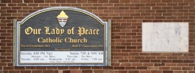 Church sign and cornerstone image. Click for full size.
