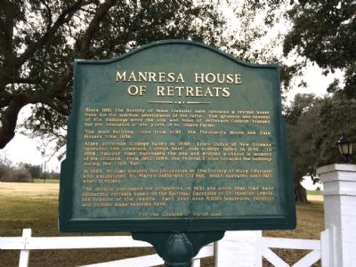 Manresa House of Retreats Marker image. Click for full size.