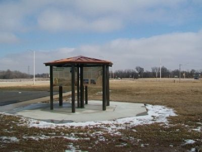 Kansas Historic Route 66 Byway Information Kiosk image. Click for full size.