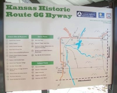 Kansas Historic Route 66 Byway Information Kiosk Map image. Click for full size.
