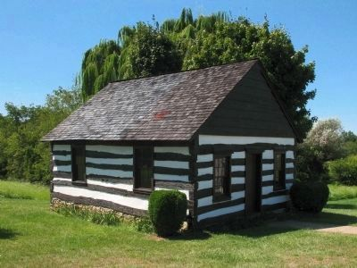 Replica of the Log Meeting House image. Click for full size.