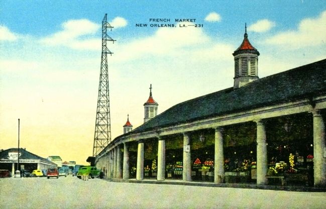 <i>The French Market, New Orleans, La.</i> Post-restoration. image. Click for full size.