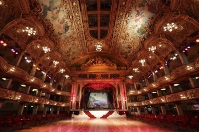 Inside Blackpool Tower Ballroom Photo, Click for full size