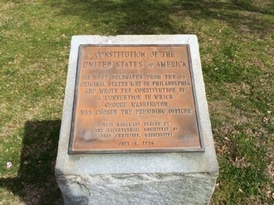Constitution of the United States of America Marker image. Click for full size.