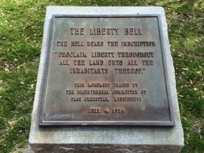 The Liberty Bell Marker image. Click for full size.