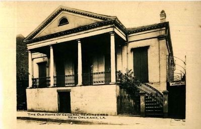 <i>The Old Home of General Beauregard, New Orleans, La.</i> image. Click for full size.