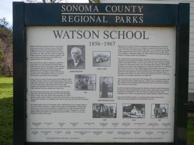 Watson School Marker image. Click for full size.
