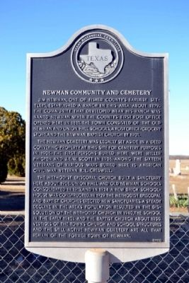 Newman Community and Cemetery Marker image. Click for full size.