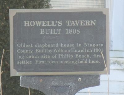 Howell's Tavern Marker image. Click for full size.