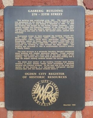 Gasberg Building Marker image. Click for full size.