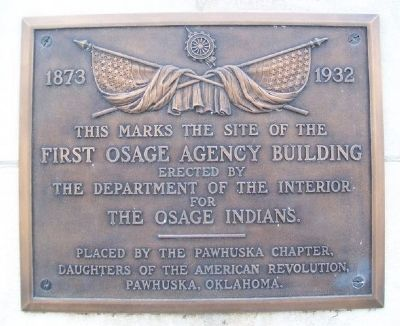 Site of the First Osage Agency Building Marker image. Click for full size.