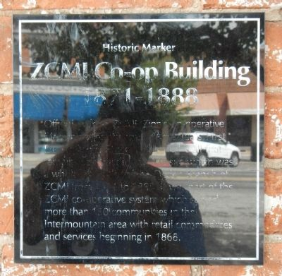 ZCMI Co-op Building Marker image. Click for full size.