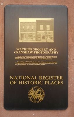 Watkins Grocery and Cranshaw Photography Marker image. Click for full size.
