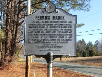 Fenwick Manor Marker image. Click for full size.