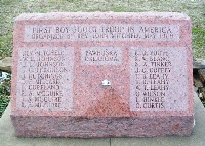 First Boy Scout Troop in America Marker image. Click for full size.