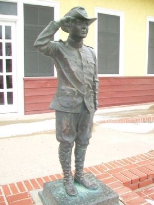 First Boy Scout Troop in America Statue image. Click for full size.