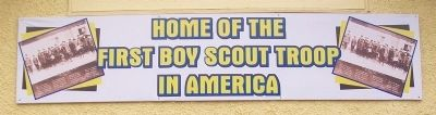 First Boy Scout Troop in America Banner image. Click for full size.