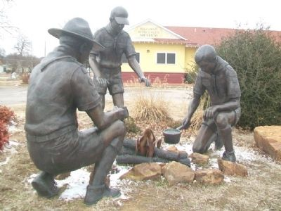 Boy Scout Troop Sculpture image. Click for full size.