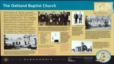 The Oakland Baptist Church Marker image. Click for full size.