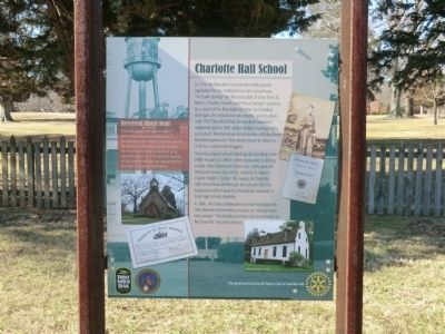Charlotte Hall School Marker image. Click for full size.