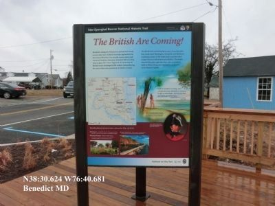 The British are Coming Marker-new installation on the boardwalk image. Click for full size.