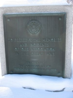 American Legion WWI Memorial image. Click for full size.