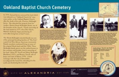 Oakland Baptist Church Cemetery Marker image. Click for full size.