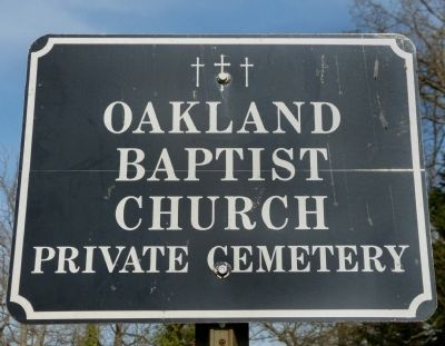 Oakland Baptist Church Private Cemetery image. Click for full size.