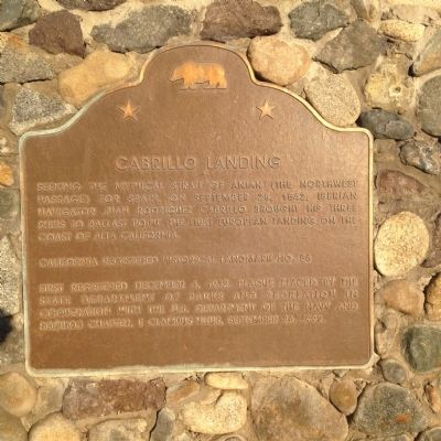 Cabrillo Landing Marker image. Click for full size.