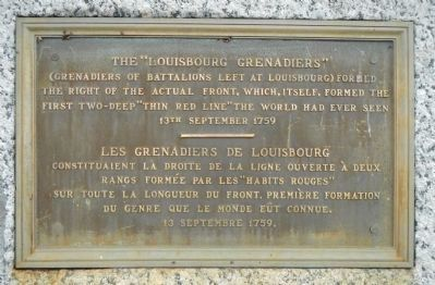 "The ""Louisbourg Grenadiers"" Marker image. Click for full size."
