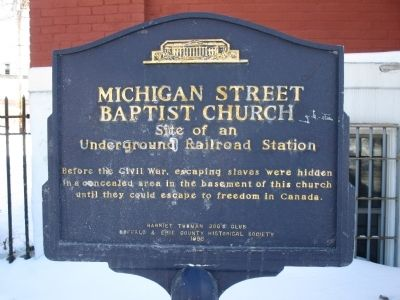 Michigan Street Baptist Church Marker image. Click for full size.