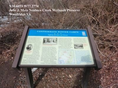 Confederate Winter Camps Marker-new installation Photo, Click for full size