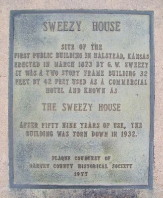 Sweezy House Marker image. Click for full size.