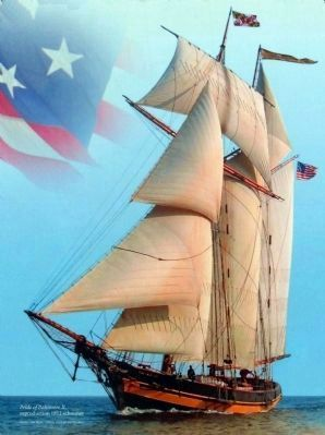 The Pride of Baltimore II,<br>reproduction 1812 schooner image. Click for full size.