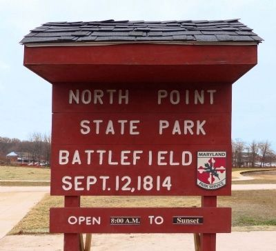 North Point State Park Battlefield<br>Sept. 12, 1814 image. Click for full size.