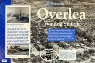 Overlea Waiting Station Marker image. Click for full size.