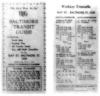 Route 15 Overlea Timetable. image. Click for full size.