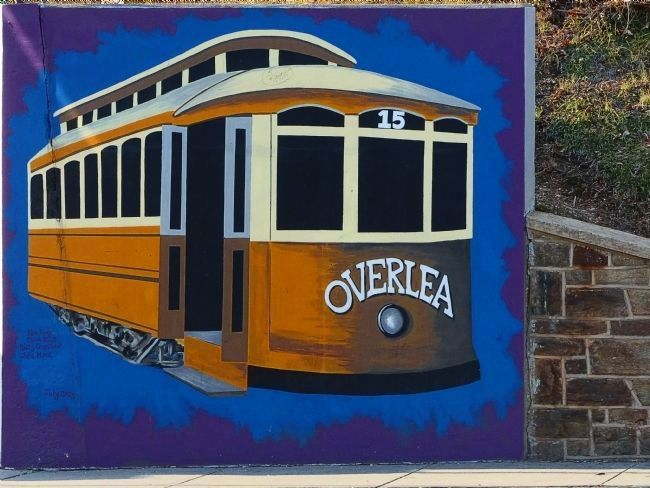 Overlea Streetcar Mural image. Click for full size.