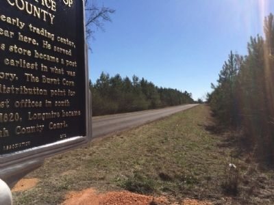 View of marker looking south on CR-5. image. Click for full size.