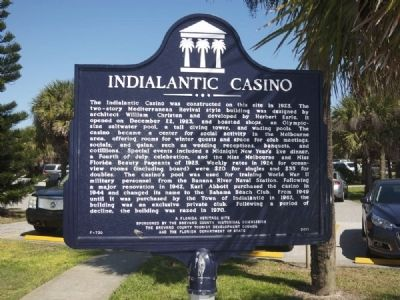 Indialantic Casino Marker image. Click for full size.