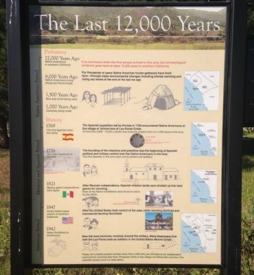 "Adjacent ""The Last 12,000 Years"" Marker image. Click for full size."
