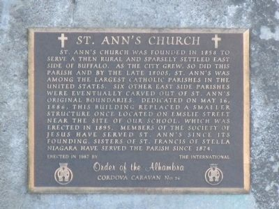St. Ann's Church Marker image. Click for full size.