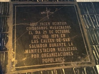 An additional marker in the El Rosario entrance. image. Click for full size.