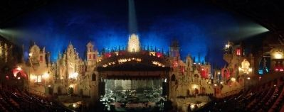 Majestic Theatre stage panoramic image. Click for full size.