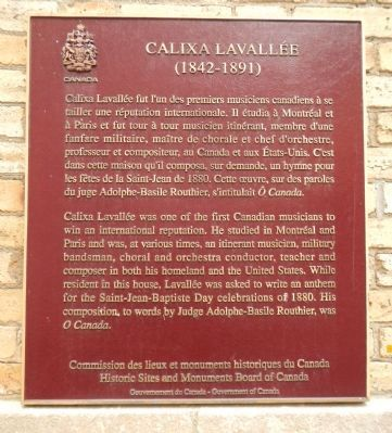 Calixa Lavallée Marker image. Click for full size.