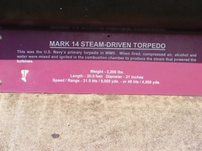 Mark 14 Steam-Driven Torpedo Marker image. Click for full size.